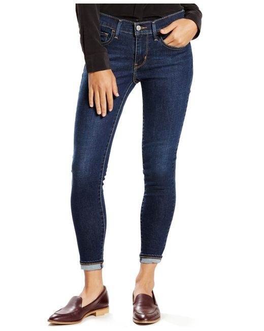 levi 39 s 710 super skinny ankle jeans in blue blue days. Black Bedroom Furniture Sets. Home Design Ideas