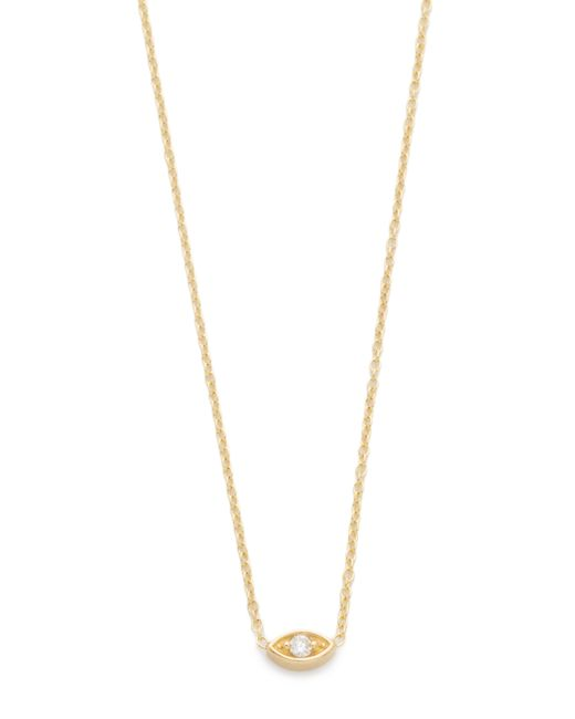 Zoe Chicco | Metallic Diamond & 14k Yellow Gold Initial Pendant Necklace | Lyst