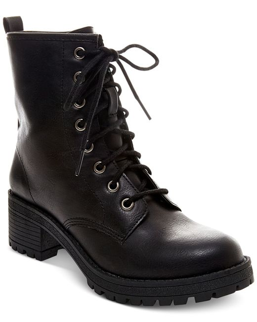 Madden Girl | Black Eloisee Combat Booties | Lyst