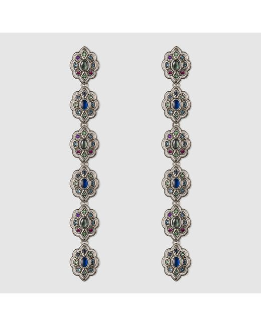 Gucci | Metallic Earrings With Swarovski Crystals | Lyst