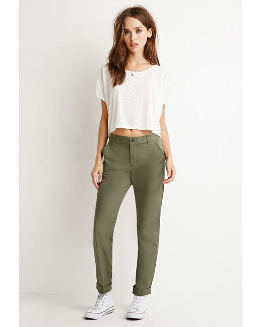 Forever 21 | Green Classic Chino Pants | Lyst