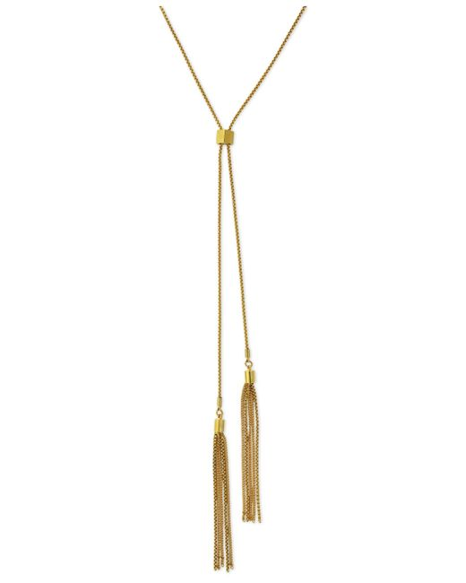 Vince Camuto | Metallic Gold-tone Adjustable Tassel Chain Necklace | Lyst