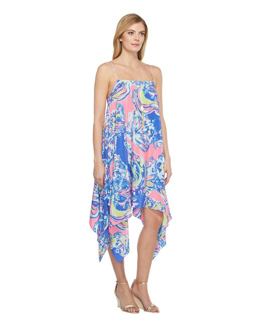 153c039a773b1d Lyst - Lilly Pulitzer Kimi Silk Dress in Blue - Save 10%