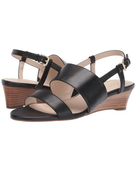 446139372b89 Lyst - Cole Haan Annabel Grand Wedge Sandal in Black - Save 13%