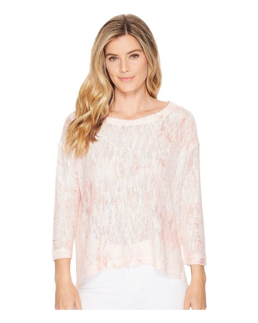 Nally & Millie - Pink Coral Marble Print Top - Lyst