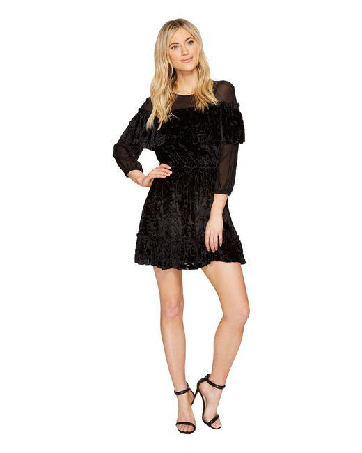 Rachel Zoe Black Velvet Burnout Pire Dress Lyst