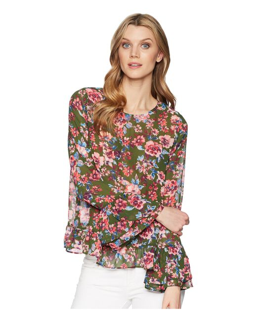 Kut From The Kloth - Multicolor Trixy Scoop Neck Ruffle Sleeve Top - Lyst