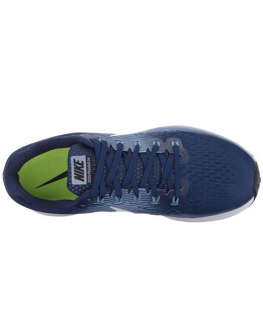 ... Nike - Blue Air Zoom Pegasus 34 for Men - Lyst ...