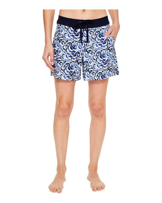 "Tommy Bahama - White Pansy Petals 5"" Boardshort - Lyst"
