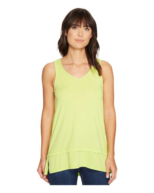 Mod-o-doc | Yellow Heather Jersey Banded Tank Top | Lyst