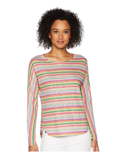 Nally & Millie - Multicolor Pink Stripe Top - Lyst