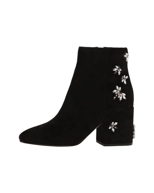 2d038a1f6089c Lyst - Sam Edelman Taye 2 Suede Ankle Boots in Black - Save 18%