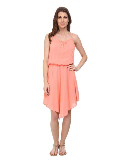 Splendid | Pink V Hem Halter Dress | Lyst