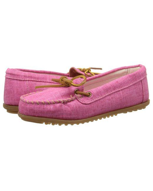 Minnetonka - Pink Canvas Moc - Lyst