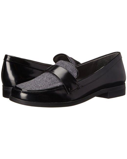Franco Sarto - Black Valera Leatherette Penny Loafers - Lyst