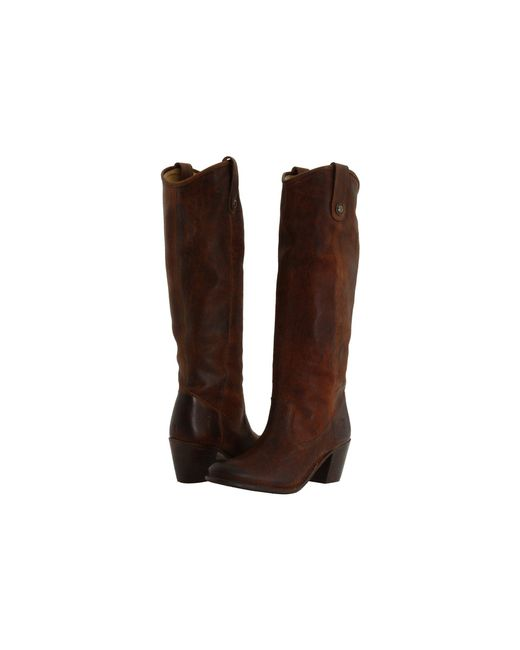 Frye - Brown Jackie Button Boot - Lyst