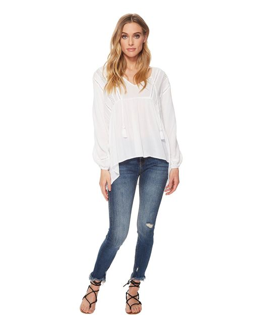 Amuse Society - White Cool Breeze Woven Top - Lyst