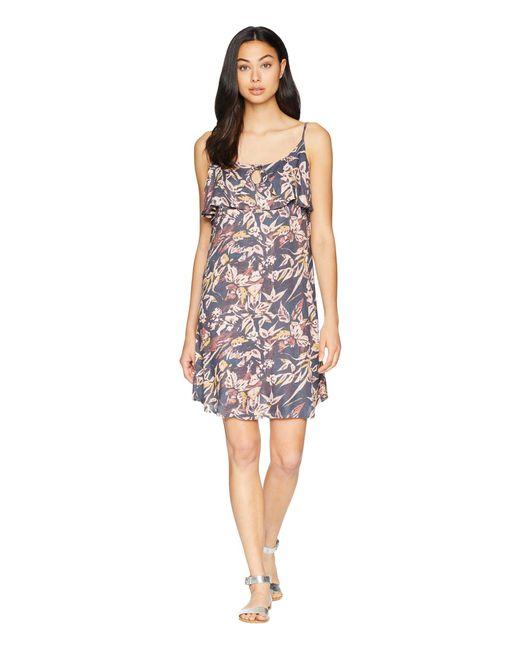 f665e9630f62 Lyst - Roxy Still Waking Up Printed Dress in Purple - Save 23%