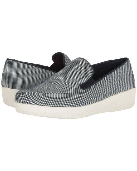 3f7e74b51 Lyst - Fitflop Houndstooth Print Superskate in Blue - Save 30%