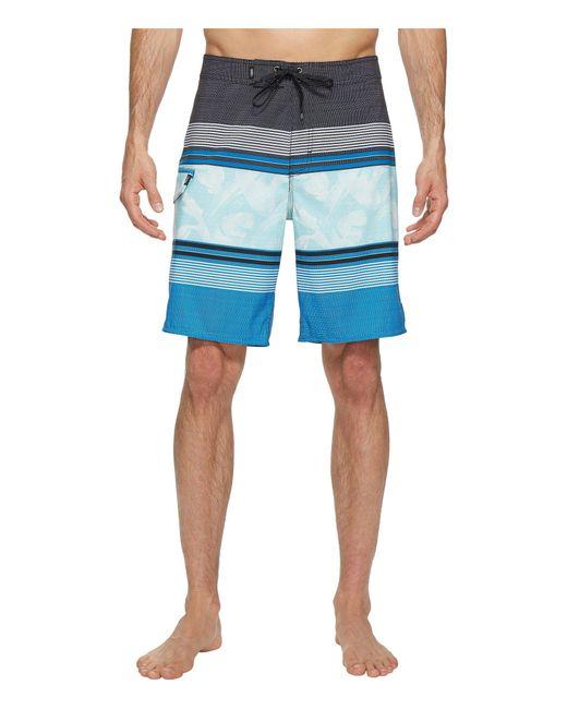 "Vans - Blue Bonsai Stripe Stretch Boardshorts 20"" for Men - Lyst"