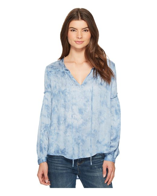 Amuse Society - Blue Washed Out Woven Top - Lyst