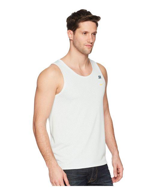 ab2381b1eb15e ... Nike - Gray Sb Dry Tank Top Mesh for Men - Lyst ...