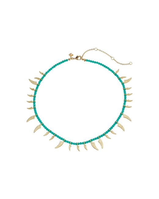 Rebecca Minkoff - Multicolor Tiki Beaded Spike Necklace - Lyst