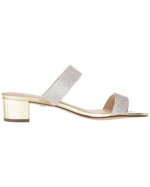 f3f6f7701792 ... Nina - Multicolor Georgea Metallic Block Heel Dress Sandals - Lyst ...