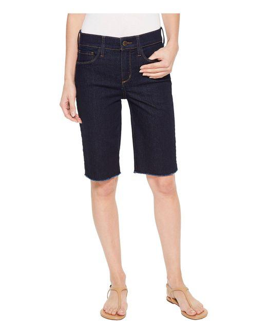 NYDJ - Blue Briella Shorts W/ Fray Hem In Rinse - Lyst