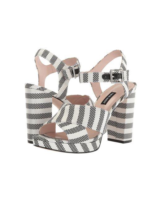 fac838553a1 Nine West - Multicolor Jimar Platform Block Heel Sandal - Lyst ...