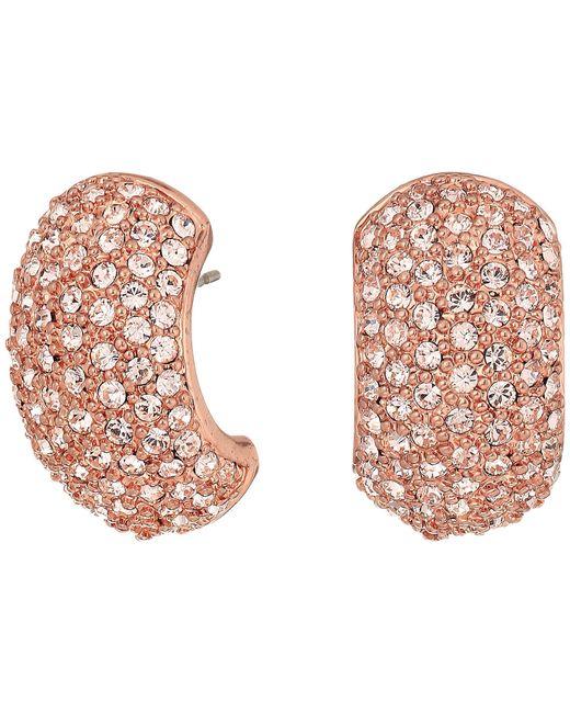 Nina - Metallic Pave Half Hoop Earrings - Lyst