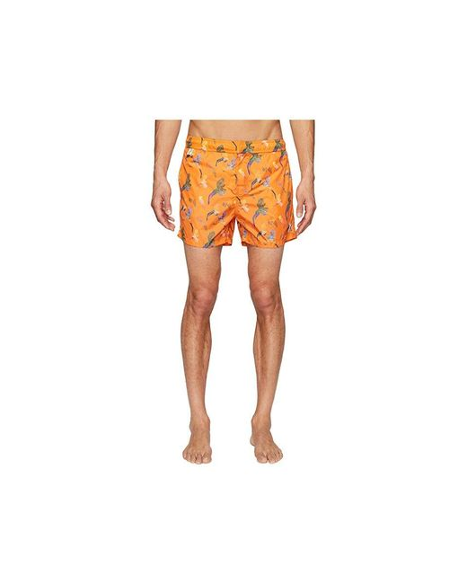 9bd9bc8c9e Missoni - Mare Printed Birds Nylon Swim Trunks (orange) Swimwear for Men -  Lyst ...