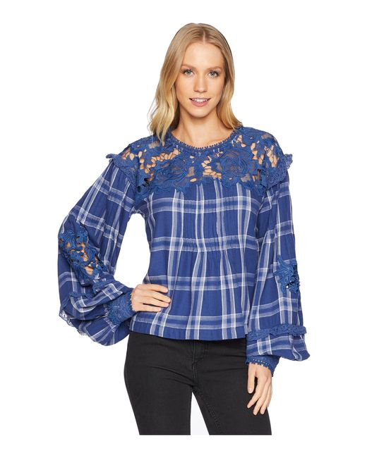 Free People - Blue Darling Diana Top - Lyst