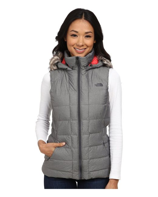 The North Face - Gray Gotham Vest - Lyst