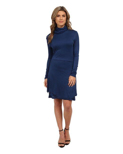 Kensie - Blue Sheer Viscose Tee Dress Ks0k7734 - Lyst