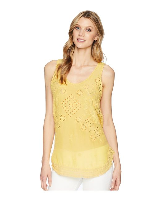 Johnny Was - Yellow Vice Tank Top - Lyst