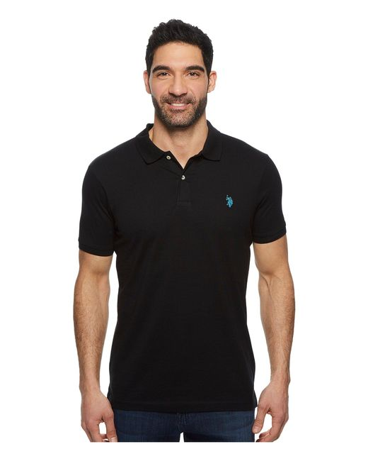 U.S. POLO ASSN. - Black Jersey Polo Shirt for Men - Lyst