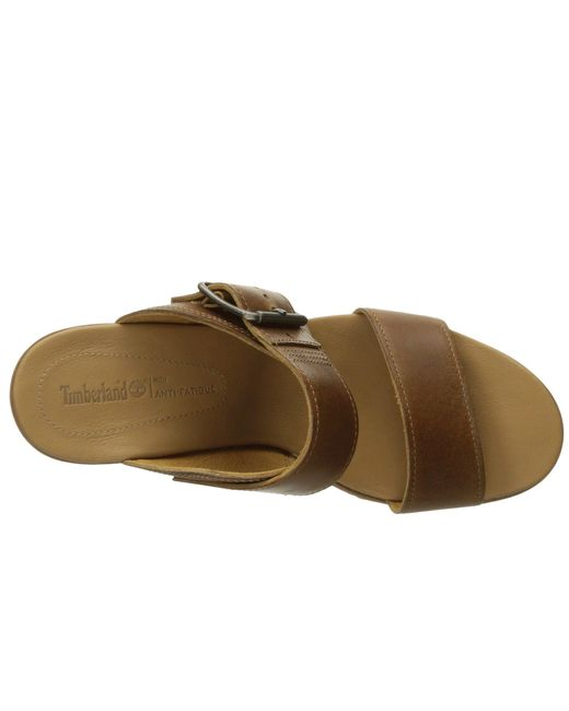 94fe01b31814 ... Timberland - Brown Brenton Buckle Slide - Lyst ...