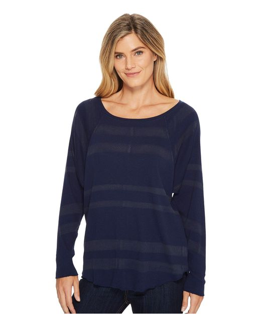 Lilla P - Blue Long Sleeve Easy Raglan - Lyst