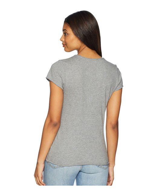 57a60463ae9 Lyst - Life Is Good. Open Heart Smooth Tee in Gray - Save 29%