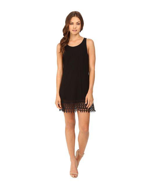 Brigitte Bailey - Black Devyn Sleeveless Dress With Crocheted Hem - Lyst