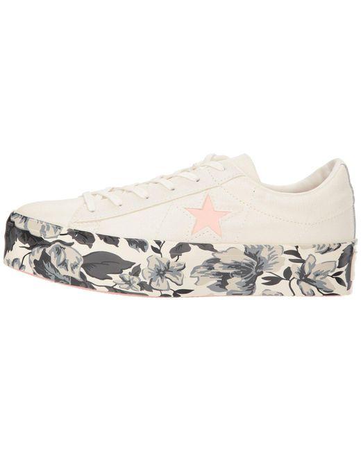 f1e18e67eaa ... Converse - Pink One Star Platform Floral Ox - Lyst ...