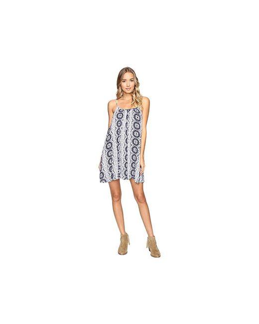 fac7213329 Roxy Windy Fly Away Print Dress Cover-up (kiki Daze Cream) Swimwear ...