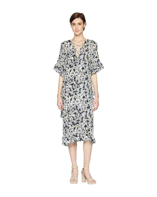 See By Chloé - Gray Floral Print Caftan - Lyst