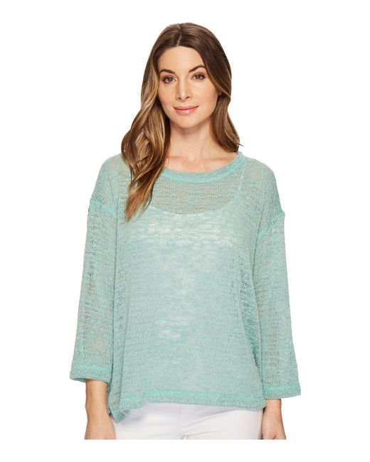Nally & Millie - Multicolor Oversize Open Knit Top With Side Slits - Lyst