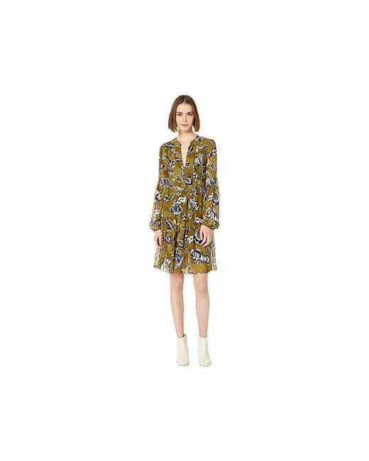 342fe87724 BCBGMAXAZRIA - Yellow Floral Puff Sleeve Shift Dress (large Liberty Floral)  Clothing - Lyst ...