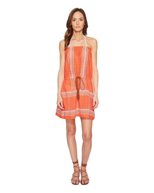 Letarte - Multicolor Strapless Embroidered Dress - Lyst