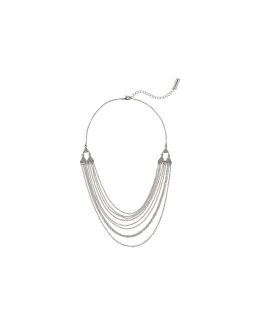 Steve Madden - Metallic Rolo Layered Casted Lobster Necklace - Lyst