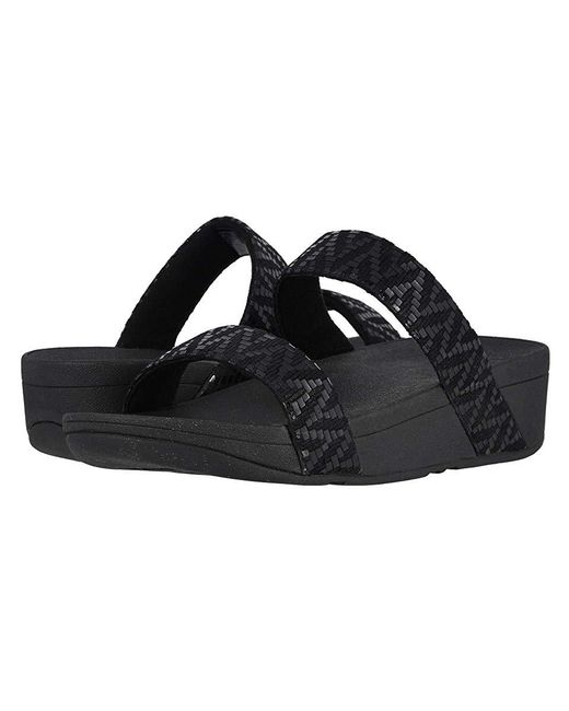 d88dd114fca Fitflop Lottie Chevron Slide (black) Shoes in Black - Lyst