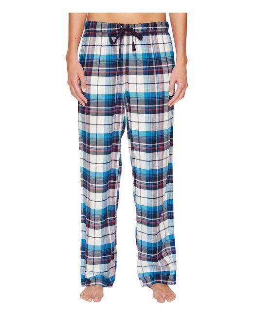 Jockey - Blue Flannel Plaid Pants - Lyst